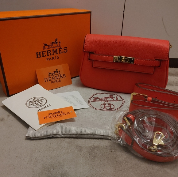 Hermes style fanny pack+ crossbody